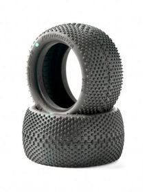 JConcepts Double Dee's 2.2 1/10th Rear Buggy Tires (Green) (2)