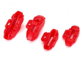 Traxxas Brake Calipers Red Front and Rear (4)