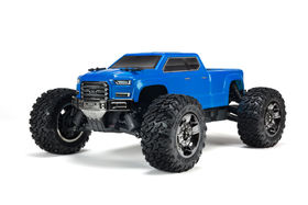 Arrma Big Rock Crew Cab 4X4 3S BLX Brushless Monster Truck Blue 1:10 RTR W/o Battery & Charger