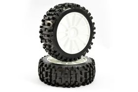 Fastrax 1/8th Premounted Buggy Tyres 'Rock-Block/12 Spoke'