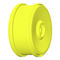 GRP 1:6 Wheel 132mm - Yellow - Fixing with 24mm Exagon (2)