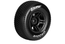 Louise RC - Groove SC Tyre With Black Rim For Asso SC10 4x4 - Mounted - Soft - (2)