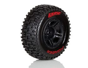 Louise SC - Pioneer SC Tyre With Black Rim For Traxxas Front (Mounted) - Sport- (2)