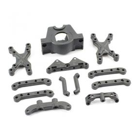 FTX Surge Suspension Mount, Motor Mount, Front Shock Tower
