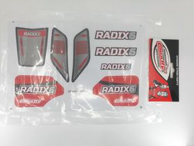 Team Corally Decal sheet Radix 6S