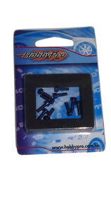 Hobbypro Hex Screw 3x10mm Blue (10)