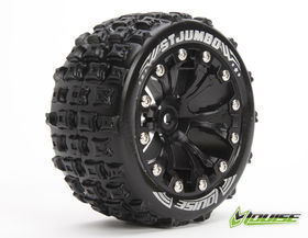 Louise 1:10 ST-Jumbo 2.8 inch Truck Tire Mounted on Black Rim - Bearing - Soft (2)