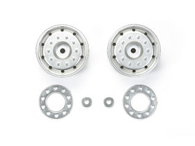 Tamiya Truck Metal-Plated Wheels (2)