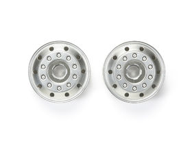 Tamiya Truck Metal-Plated Front Wheels - 22mm width - (2)