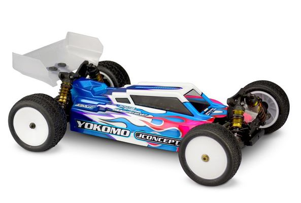 JConcepts F2 - Yokomo YZ4-SF Body With Aero S-Type Wing  (Clear)