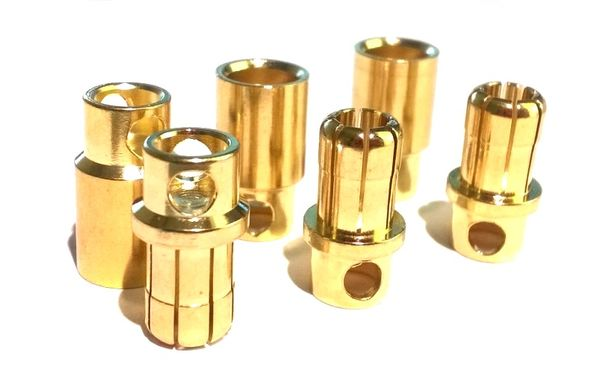 EuroRC 8.0mm Bullet Connectors (3 pairs)