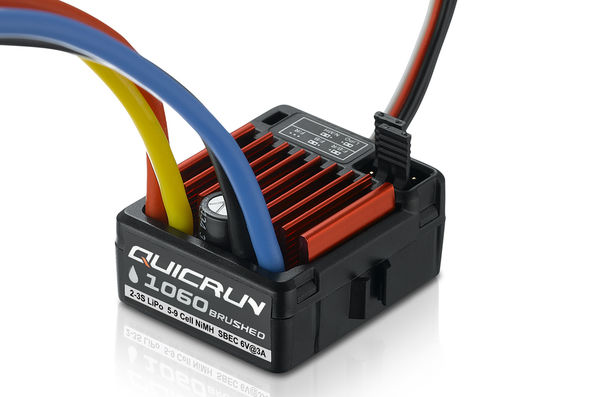 HobbyWing QuicRun 1060 1/10 Waterproof Brushed 60A Electronic Speed Controller - SBEC