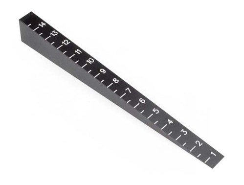 Hudy Chassis Ride Height Gauge 0 mm To 15 mm (Beveled)