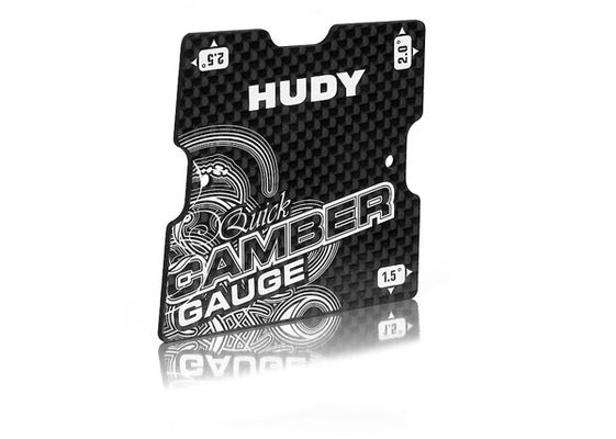 Hudy Graphite Quick Camber Gauge 1/10 Touring 1.5° 2° 2.5°