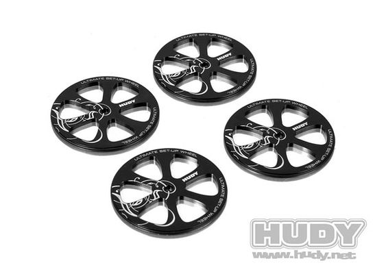 Hudy Alu Set-up Wheel for 1/10 Touring Cars (4)