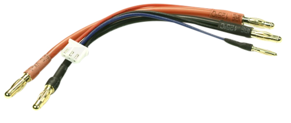 EuroRC Charging Cable For 2S Lipo - 4mm