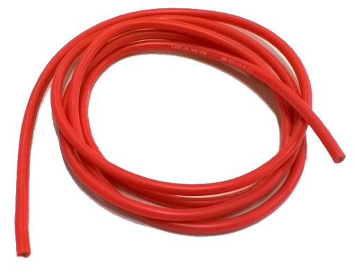 EuroRC 16AWG Silicon Cable 1m - Red