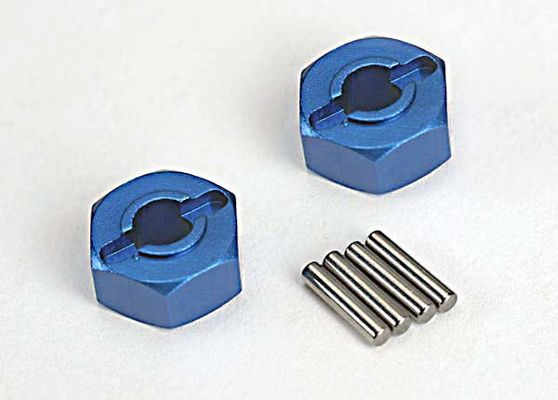 Traxxas Blue Aluminum Hex Wheel Hubs