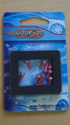 Hobbypro Hex Screw 3x8mm Pink (10)