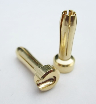 TQ Racing 4x18mm HD Male Bullet - Gold (2)