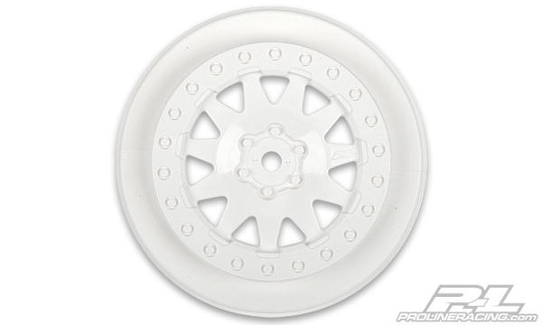 "Pro-Line F-11 +3 Offset 2.2""/3.0"" SC Wheels (White) (2)"