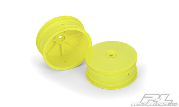 "Pro-Line Velocity 2.2"" 4WD Hex Front Wheels (Yellow) (2)"