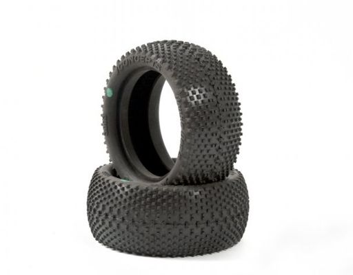 JConcepts Double Dee's 2.2 1/10th Front Buggy Tires (Green) (2)