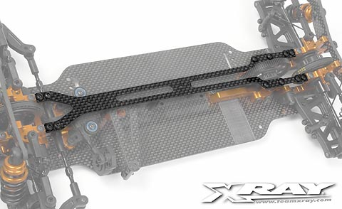 Xray T4 Upper Deck 1.6mm Graphite - V2
