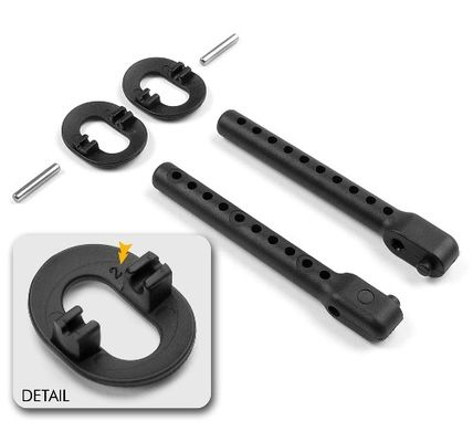 Xray Adjustable Rear Body Mount Set (+2mm)
