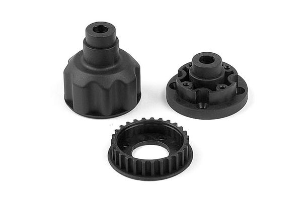 Xray Composite Front Diff. Case, Cover & 27T Belt Pulley