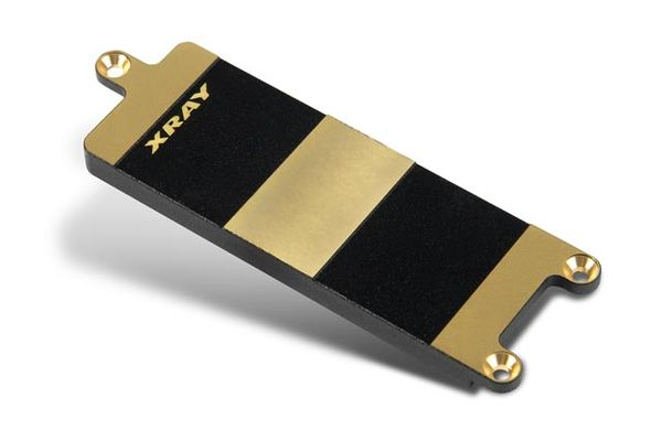 Xray Brass Battery Plate For Lipo Batteries - V2