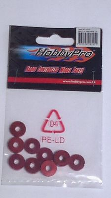 Hobbypro M4 Flat Washer 2.5 - Red