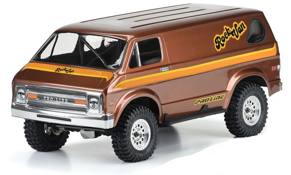 Pro-Line 70's Rock Van Clear Body for 313mm WB Crawlers