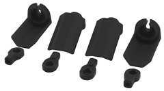 RPM Shock Shaft Guards (Traxxas and Durango) (Black) (4)