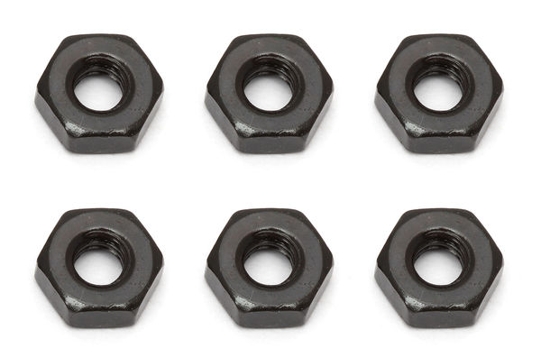 Team Associated M3 Nut, black (6) (B5/B5M)