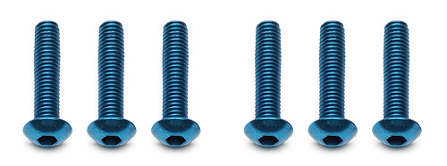 Team Associated FT M3 x 14mm BHCS Blue Aluminum (B5/B5M) (6)