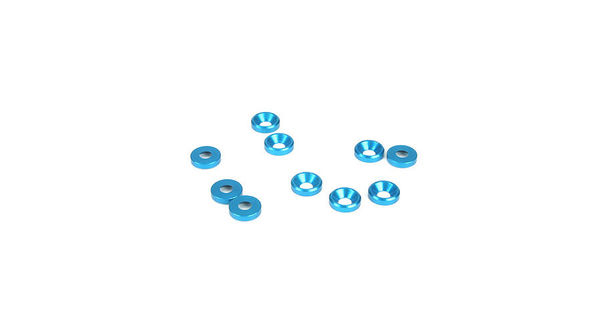 Dynamite 4mm Countersunk Washer, Blue (10)