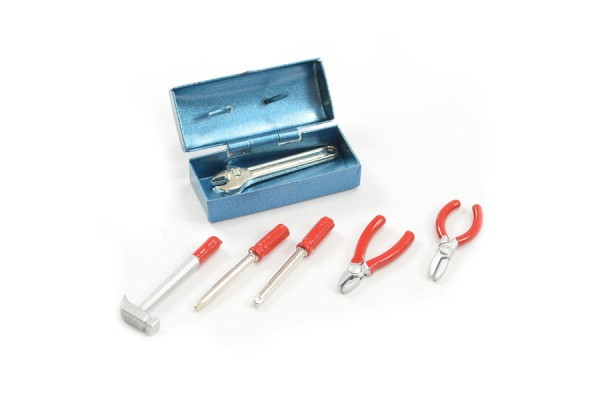 Fastrax Scale Painted Tool Box & 6 Tools