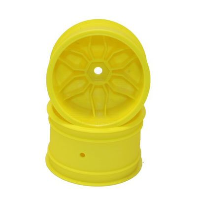 Louise Yellow Rim TeamC / Kyosho HEX 12mm 4WD Rear (2)