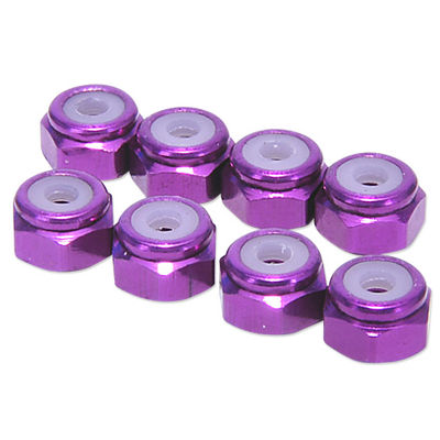 Hobbypro M2 Lock Nuts - Purple (8)
