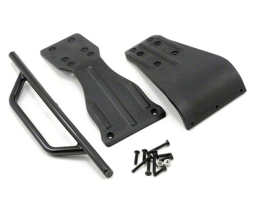 RPM Front Bumper, Skid Plate & Brace for the Assoc. SC10 - Black
