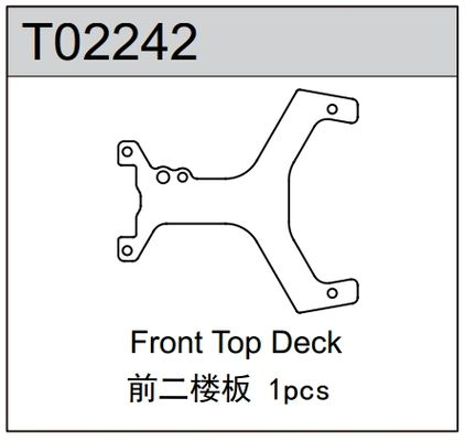 TeamC Carbon Front Top Deck For TM2 V2