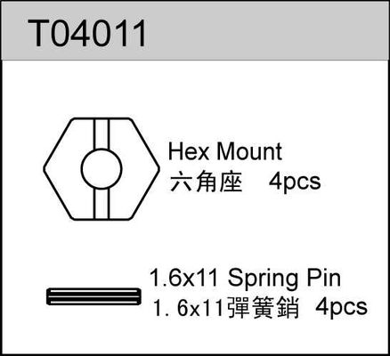 TeamC Hex Mount With Pin (4)