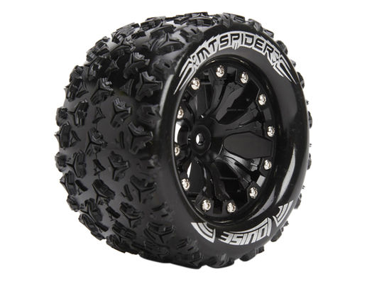 Louise 1:10 MT-Spider Monster 2.8 Inch Tire Mounted On Black Wheel - Bearing - Soft (2)