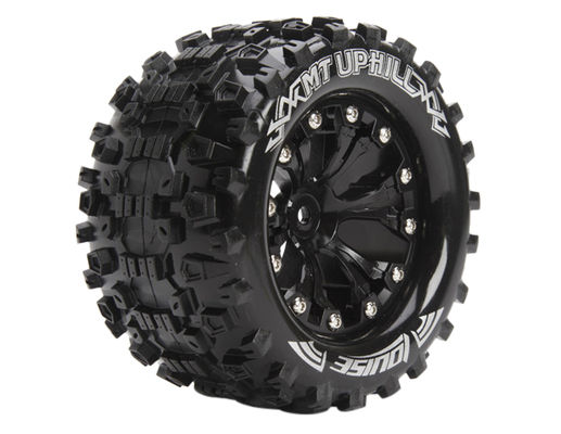 Louise 1:10 MT-Upphill Monster 2.8 Inch Tire Mounted On Black Wheel - Bearing - Soft (2)