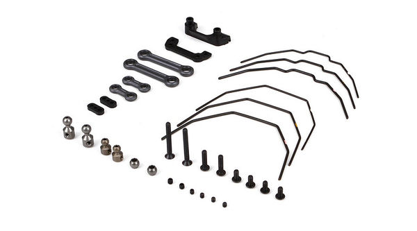 Team Losi Racing Sway Bar Kit, Front & Rear: 22-4