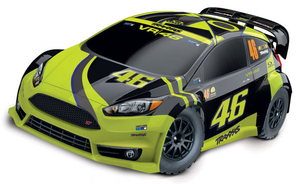 Traxxas Ford Fiesta ST Rally 1/10 4WD RTR TQ - Valentino Rossi (VR46) - With 12V Charger