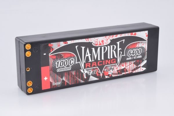 Vampire Racing 6400mAh 100C 7.4V 2S Stick Pack LiPo - EFRA Approved