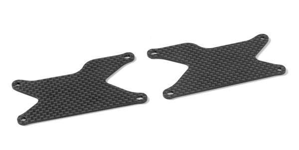 Xray XB8 Graphite Rear Lower Arm Plate 1.6mm (2)