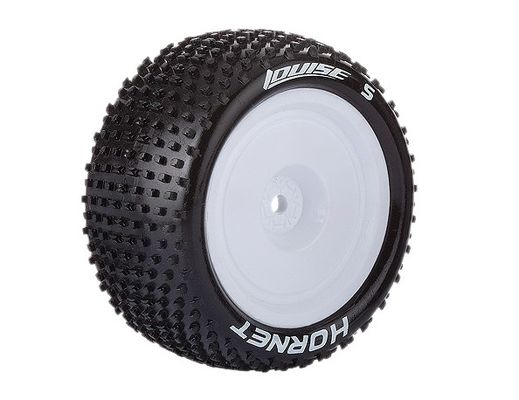 Louise E-HORNET 4WD Rear Tire With White Rim - SuperSoft (2) - AE B44/B4